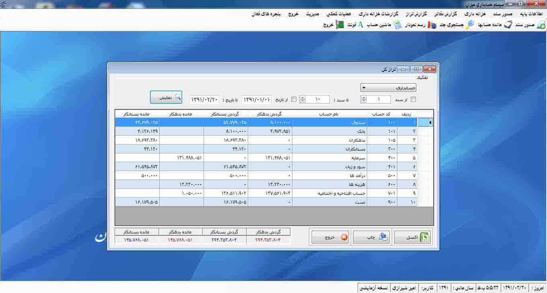 تراز <a href='http://www.hesabdari-mizan.com/product4.aspx'>نرم افزار حسابداری</a>